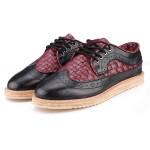 Britischen Stil Klassisch Croc Muster beiläufige Herren Elegante Schuhe Herren Schuhe