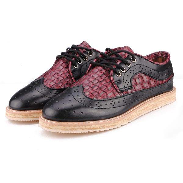 British Style Classic Croc Pattern Casual Mens Elegant Shoes Men's Shoes