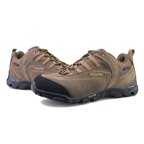 CLORTS Men's Brown Multi Sport Trail Running Ventilator Hiking Shoes Men's Shoes