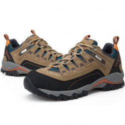 Clorts Mens Waterproof Breathable Leather Walking Shoes