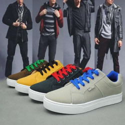 Mode Mens Lace-up Sneakers Casual Skateboard Flats Sko