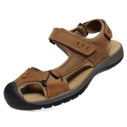 Leisure Casual Herre Læder Beach Sandal Slipper Sko