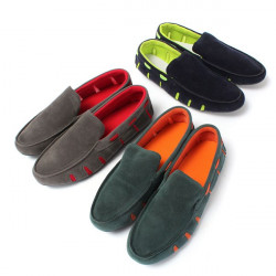 Mens Artificial Suede Sneaker Casual Slip-on Loafer Driving Shoes