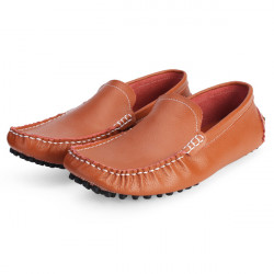 Män Svart Vit Oxford Skor Läder Körning Mockasiner Loafer