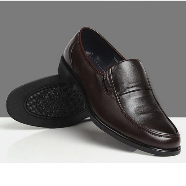 Mens Business Formal Shoes Artificial Leather Casual Slip-On Loafers Men's Shoes