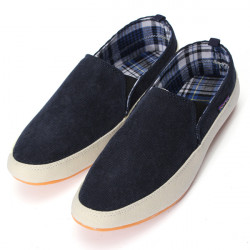Män Canvas Casual Trainers Boat Skor