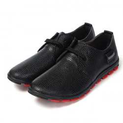 Mens Casual Animal Texture Lace Up Oxford Artificial Leather Shoes