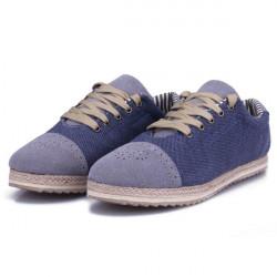 Herre Casual Åndbare Jeans Canvas Sko Sneakers