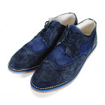 Men's Casual Business Denim and Leather Shoes Men's Shoes