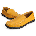 Mens Casual Flats Genuine Cowhide Leather Moccasin Loafers Men's Shoes
