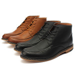 Mens Casual PU Leather Lace-up Boots High Top Dress Shoes Oxfords Men's Shoes