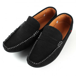 Mens Driving Moccasins Sko Casual Suede Loafers Blød Sneakers