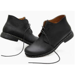 Mens Fashion British Boots Vintage Style Martin Genuine Leather Shoes Men's Shoes