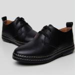 Mens Fashion Flats Oxfords Casual Dress PU Leather Shoes Men's Shoes