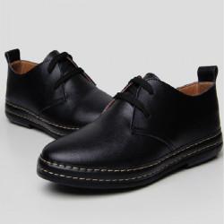 Mens Fashion Flats Oxfords Casual Dress PU Leather Shoes