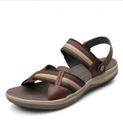 Mäns Mode Läder Sandaler Big Size Sandaler Män Leisure Beach Sandaler Skor