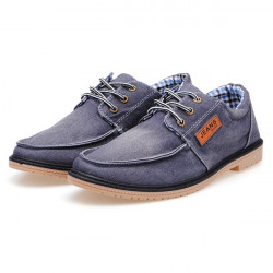 Men's Fashion Style Washed Canvas Shoes Casual shoes