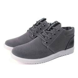 Mens Lace Up Flats Canvas Casual Sneakers Mode Driving Sko