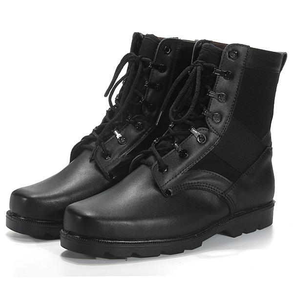 Mens Military Boots Sort Gi Type Combat Vejrbestandigt Sko Herresko