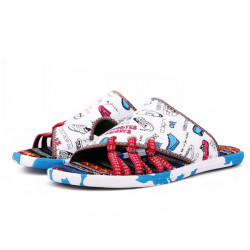 Mens Multi Color Casual Family Guys  Doodle Painting Slippers