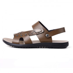New Design Summer Men's Leather Sandals Men Beach Leisure Slippers