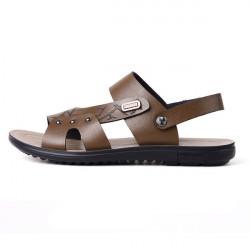 Nyt Design Sommer Mænds Læder Sandaler Mænd Beach Leisure Slippers