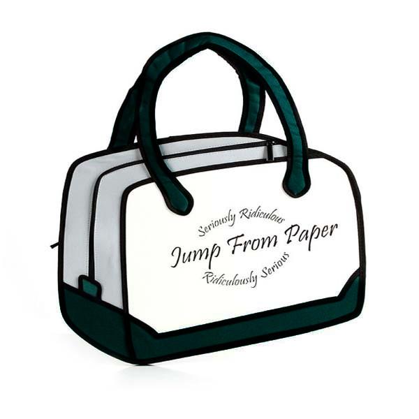 3D Cartoon Comics Grün Messenger Bag Damentaschen für Frauen