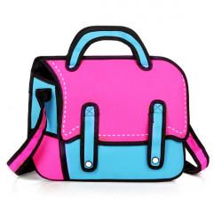 3D Jump Style Cartoon Comics Messenger Bag