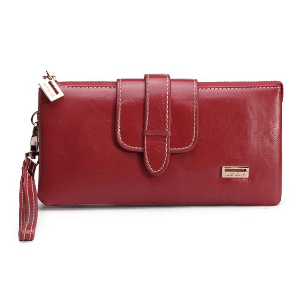 Belt Buckle Hasp Zipper Wallet Women's Bags