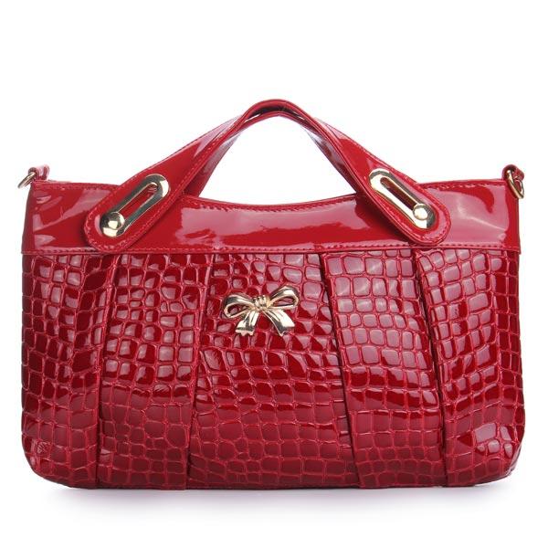 Bowknot verzierte PU Leder Crossbody Tasche Damentaschen für Frauen