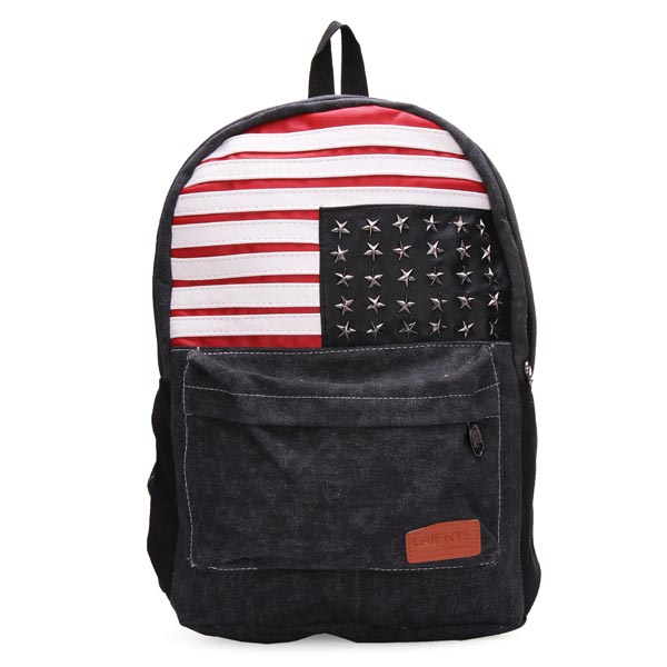 Boy/Girls USA Flag Canvas Backpack Women's Bags