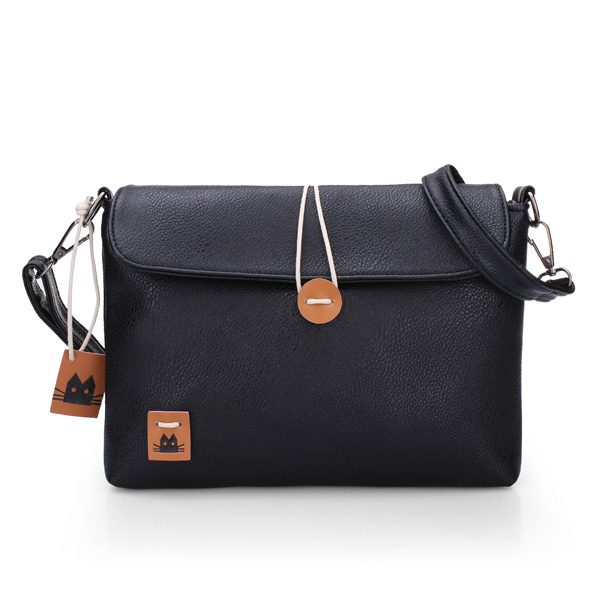 Candy Color Handbag PU Leather Women Messenger Shoulder Bag Women's Bags