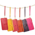 Candy Color Leather Coin Purse Card Clutch Zipped Handbag Women's Bags