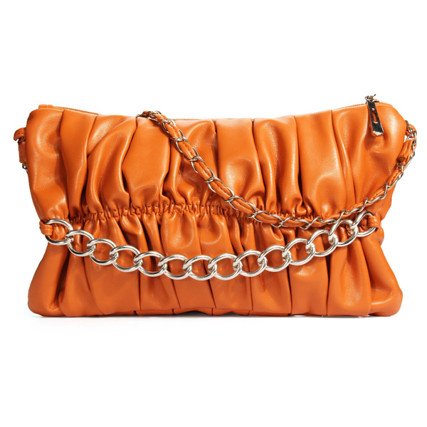 Candy Color Pleated Handbag Crossbody Bag Women's Bags