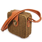 Candy Color Straw Bag Square Beach Shoulder Bag Women's Bags