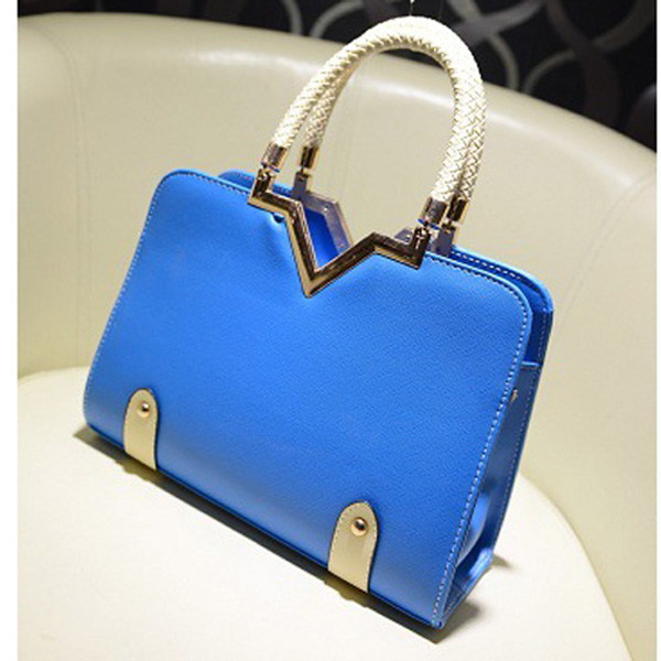 Candy Colors V Shape Women Handbag Shoulder Bag Women's Bags