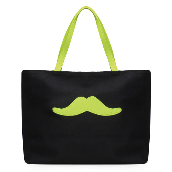 Candy Cute Cartoon Beard Canvas Handbag Shoulder Bag Women's Bags