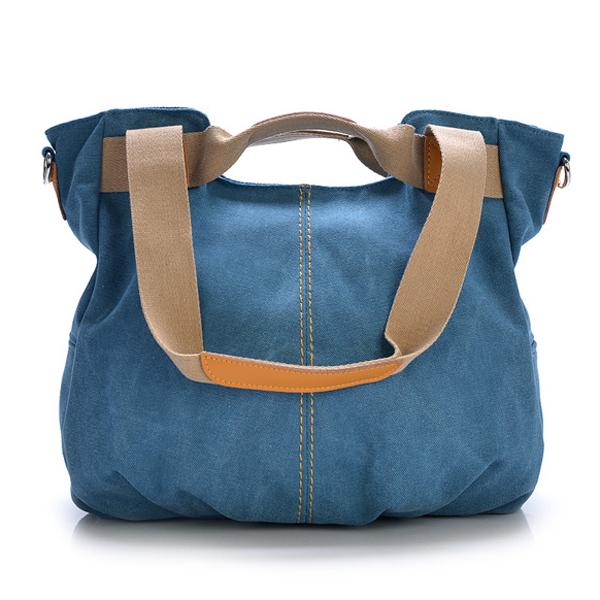 Segeltuch beiläufige Frauen Kurier Taschen Vintage Handtaschen Schulter Big Bag Damentaschen für Frauen
