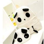 Canvas Cute Panda Muster Schultasche Damenhandtasche Rucksack Damentaschen für Frauen