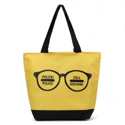 Canvas Glasses Pattern Printing Handbag