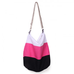 Canvas Patchwork Color Crossbody Bag