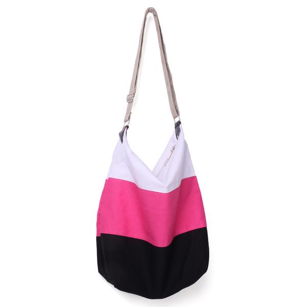 Canvas Patchwork Farbe Crossbody Tasche Damentaschen für Frauen