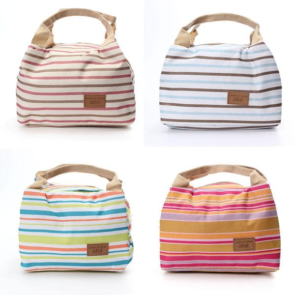 Segeltuch Striped Lunch Bag Damentaschen für Frauen