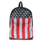 Canvas USA United State Flag Rucksack Schule Beutel Damentaschen für Frauen