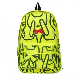 Cartoon Fluorescent Green Backpack