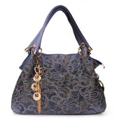 Carved Lykkebringende Skyer Mønster Kvinder Håndtasker