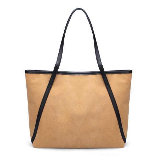 Beiläufige Frauen Große Schultertasche einfacher matte Handtasche Damentaschen für Frauen
