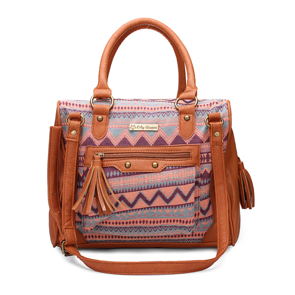 Beiläufige Frauen tragbare Schulter Handtaschen ethnische Charakter Tasche Damentaschen für Frauen