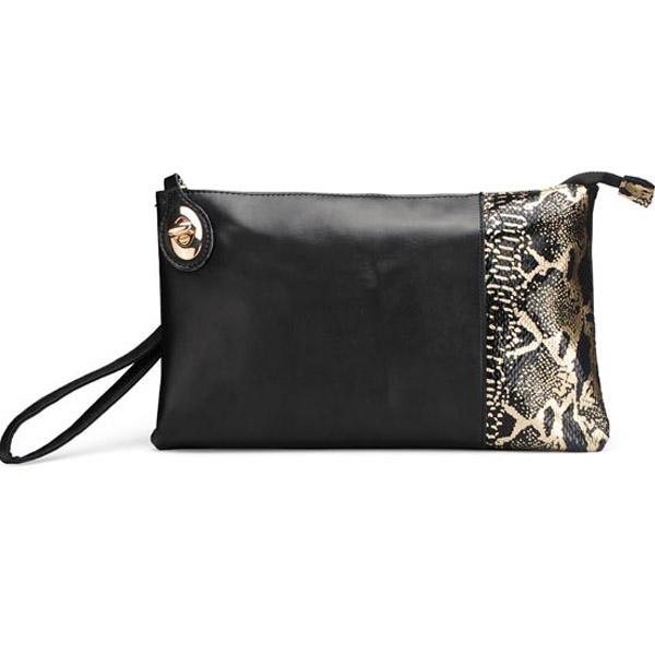 Clutch Taske med Slangeskind Print Dametasker