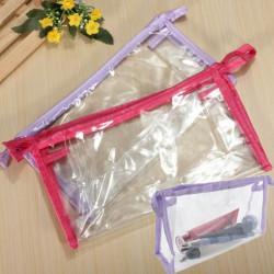 Kosmetika Dragkedja Genomskinlig Plast Handväska Tvättpåse
